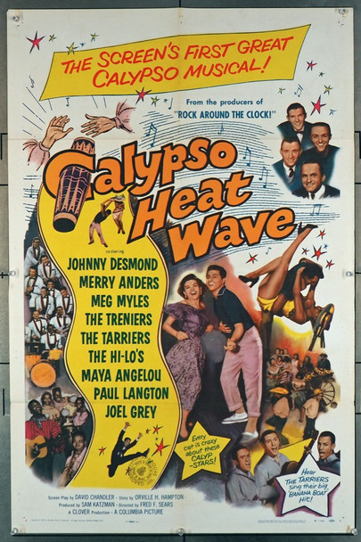 CALYPSO HEAT WAVE (1957) 15071 Columbia Pictures Original U.S. One-Sheet Poster (27x41) Folded  Very Good Plus to Fine Condition