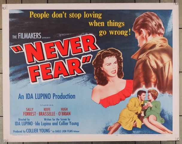 NEVER FEAR (1950) 27935 Eagle-Lion Films Original style A Half-Sheet Poster (22x28) Rolled  Fine Plus Condition