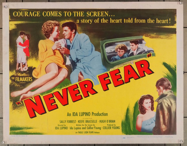 NEVER FEAR (1950) 27936 Eagle-Lion Original U.S. Half Sheet Poster (22x28)  Rolled  Fine Plus Condition  Style B