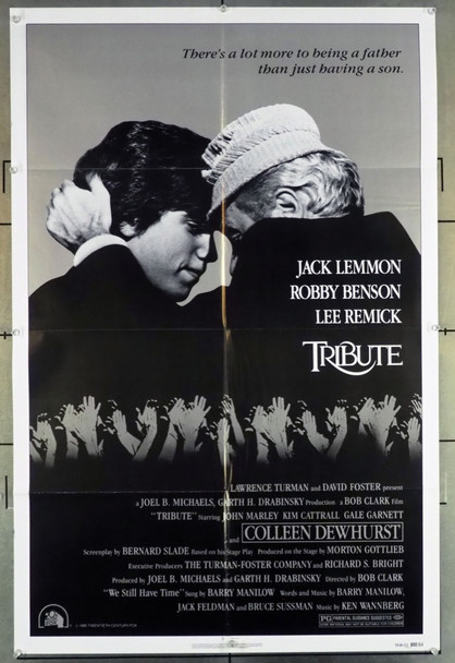 TRIBUTE (1980) 2711 Original 20th Century-Fox One Sheet Poster (27x41).  Folded.  Very Fine.