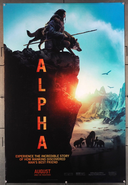 ALPHA (2018) 27893 Original Columbia Pictures Advance Style B One Sheet Poster (27x40).  Double-Sided.  Rolled.  Fine to Very Fine Condition.