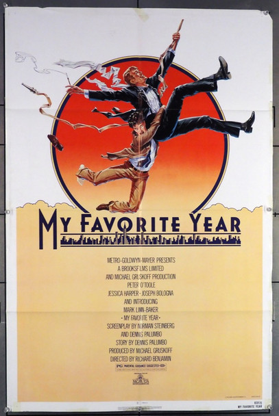 MY FAVORITE YEAR (1982) 8816 MGM Original U.S. One-Sheet Poster (27x41) Folded  Very Good Condition