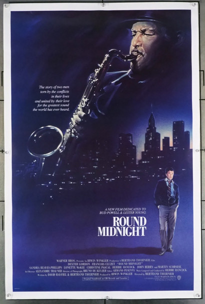 'ROUND MIDNIGHT (1986) 127 Warner Brothers Original U.S. One-Sheet Poster (27x41) Rolled  Very Fine Plus Condition