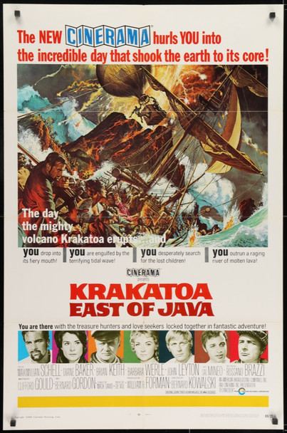 KRAKATOA: EAST OF JAVA (1969) 27876 ABC - Cinerama Original U.S. One-Sheet Poster (27x41) Folded  Very Fine Condition