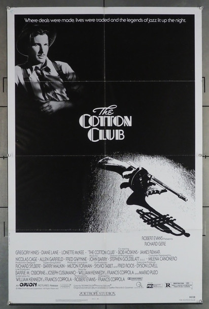 COTTON CLUB, THE (1984) 10855 Original Orion Pictures One Sheet Poster (27x41).  Folded.  Very Fine Condition.