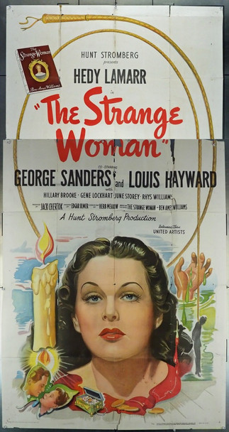 STRANGE WOMAN, THE (1946) 9721 United Artists Original U.S. Three Sheet Poster (41x81) Used Condition  Fair to Good