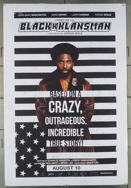 BLACKkKLANSMAN (2018) 28070 Focus Features Original U.S. One-Sheet Poster (27x40) Rolled  Fine Condition