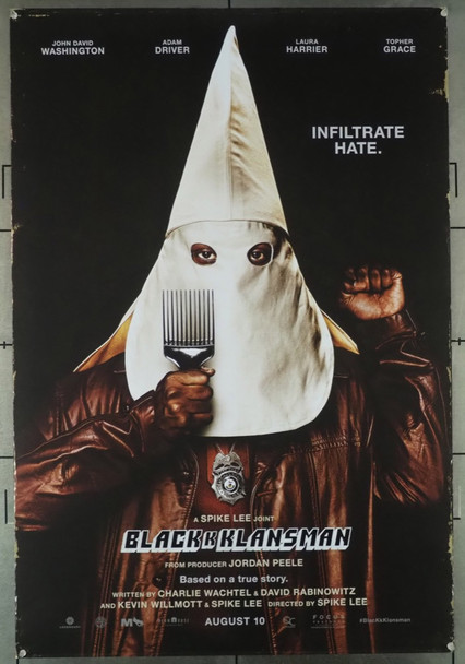 BLACKkKLANSMAN (2018) 28071 Focus Features Original U.S. One-Sheet Poster (27x40) Rolled Fine Condition