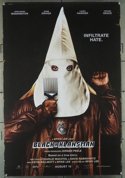 BLACKkKLANSMAN (2018) 28071 Focus Features Original U.S. One-Sheet Poster (27x40) Rolled Fine Condition