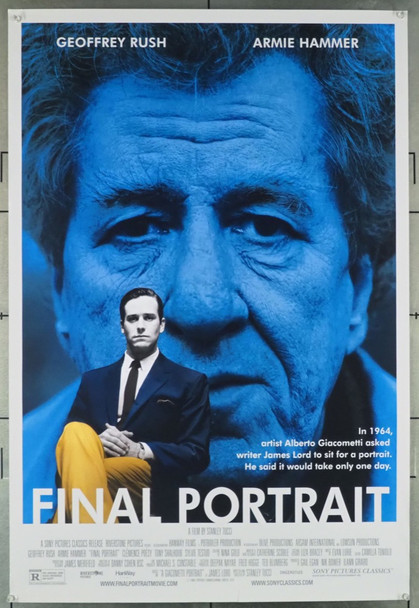 FINAL PORTRAIT (2017) 28064 Original Sony Pictures Classics One Sheet Poster (27x41).  Rolled.  Very Good Condition.