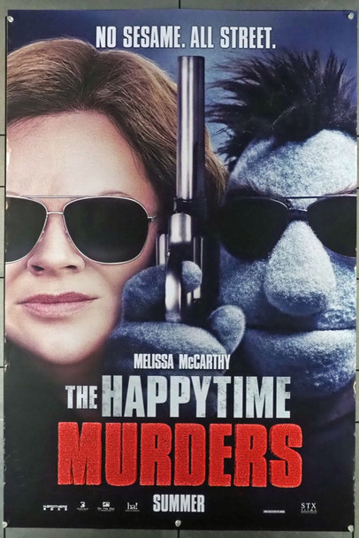 HAPPYTIME MURDERS, THE (2018) 28075 Original STX Entertainment Advance One Sheet Poster (27x40).  Double-Sided.  Rolled.  Fine Condition.