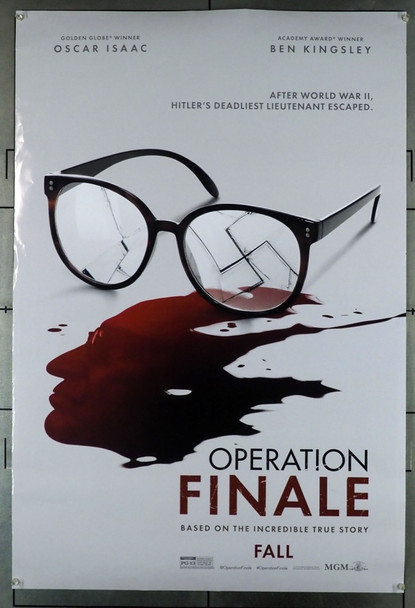OPERATION FINALE (2018  ) 28079 Original MGM Advance One Sheet Poster (27x40).  Double-Sided.  Rolled.  Very Good Plus To Fine Condition.