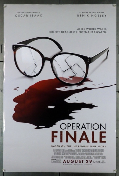 OPERATION FINALE (2018  ) 28080 Original MGM One Sheet Poster (27x40).  Double-Sided.  Rolled.  Fine to Very Fine Condition.