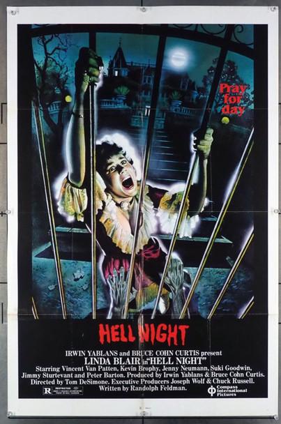 HELL NIGHT (1981) 28054 Compass Original U.S. One-Sheet Poster (27x41) Folded  Very Good