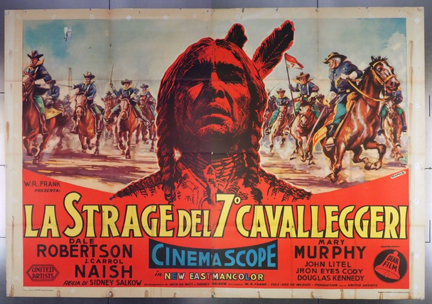 SITTING BULL (1954) 28046 United Artists Original Italian Horizontal 79x55 poster  Folded   Very Good Condition  Art by Edmondo De Amicis