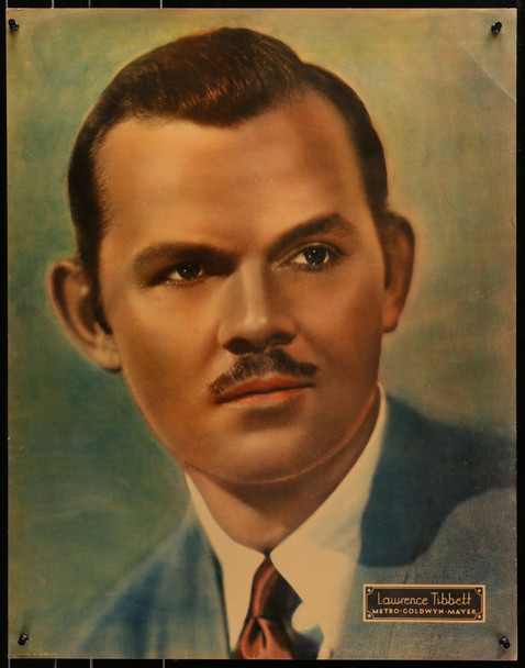 LAWRENCE TIBBETT (1935) 28094 MGM Personality Poster (1935) Lawrence Tibbett  (22x28)  Very Fine Condition
