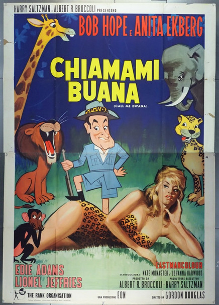 CALL ME BWANA (1962) 28042 United Artists Original Italian 79x55 poster  Folded   Very Good Plus Condition
