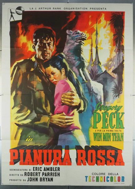 PURPLE PLAIN, THE (1954) 27954 Original Italian 2 Fogli Poster (39x55).  Folded.  Fine Condition.