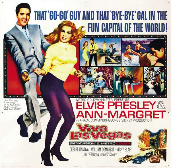 VIVA LAS VEGAS (1964) 28062 MGM Original U.S. Six Sheet Poster  Very Fine On Linen  81x81 inches  ELVIS PRESLEY