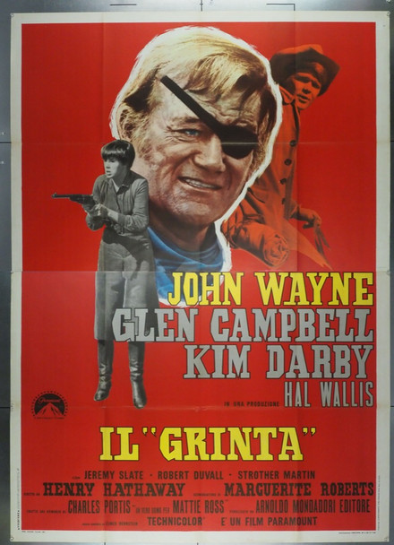 TRUE GRIT (1969) 27970 Original Italian 4 Fogli Poster (55x79).  Folded.  Fine Condition.