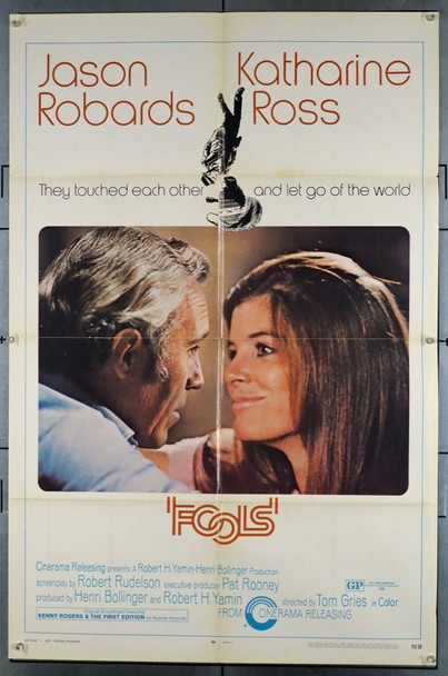 FOOLS (1970) 3815 Original Cinerama Releasing One Sheet Poster (27x41).  Folded.  Fine Condition.