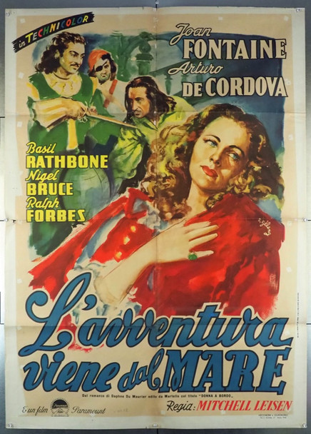 FRENCHMAN'S CREEK (1944) 27952 Original 2 Fogli Poster (39x55).  Folded.  Very Good Plus Condition.  Art by Rinaldo Geleng