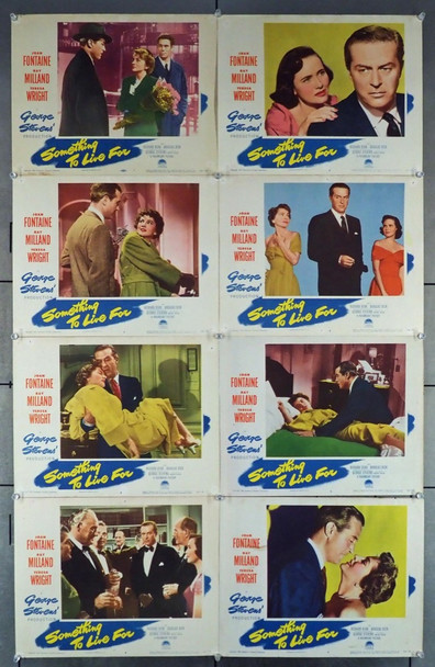 SOMETHING TO LIVE FOR (1952) 4338 Original Paramount Pictures Complete Set of 8 Lobby Cards (11x14).  Very Good to Fine Condition.