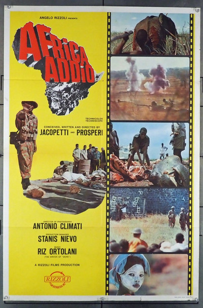 AFRICA ADDIO (1966) 4152 Cineriz Original U.S. One-Sheet Poster (27x41) Style C  Very Good Condition  Theater-Used