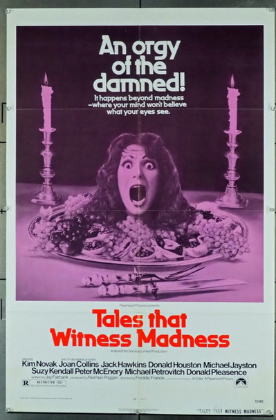 TALES THAT WITNESS MADNESS (1973) 11541 Paramount Pictures Original U.S. One-Sheet Poster (27x41)  Folded  Fine Plus Condition