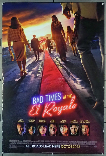 BAD TIMES AT THE EL ROYALE (2018) 28135 Original 20th Century-Fox One Sheet Poster (27x41).  Double-Sided.  Rolled.  Fine Condition.