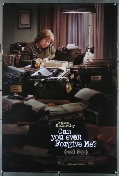 CAN YOU EVER FORGIVE ME? (2018) 28139 Original Fox Searchlight Pictures One Sheet Poster (27x41).  Double-Sided.  Rolled.  Fine Condition.