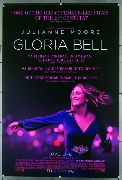 GLORIA BELL (2018) 28142 Original A24 One Sheet Poster (27x41).  Double-Sided.  Rolled.   Very Fine Conndition.