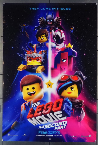 LEGO MOVIE 2, THE:THE SECOND PART (2019) 28147 Original Warner Brothers Advance One Sheet Poster (27x41).  Double-Sided.  Rolled.  Very Fine Condition.