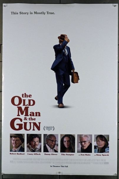 OLD MAN & THE GUN, THE (2018) 28148 Original Fox Searchlight Pictures One Sheet Poster (27x40).  Double-Sided.  Rolled.  Very Fine Condition.