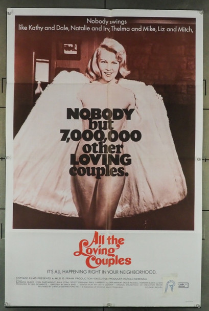 ALL THE LOVING COUPLES (1969) 4153 U-M Film Original U.S. One-Sheet Poster (27x41) Folded  Very Good Condition