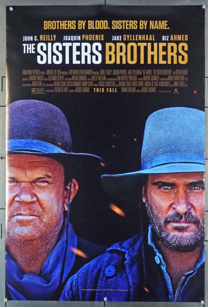 SISTERS BROTHERS, THE (2018) 28152 Original Annapurna Pictures One Sheet Poster (27x41).  Double-Sided.  Rolled.  Fine Condition.