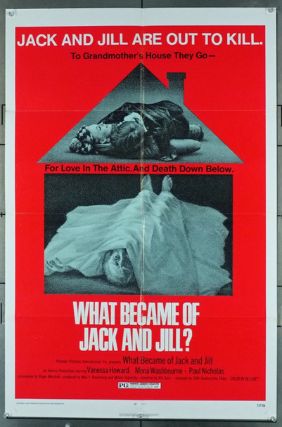 WHAT BECAME OF JACK AND JILL? (1972) 11561 20th Century Fox Original U.S. One-Sheet Poster   (27x41)  Folded  Fine Plus Condition