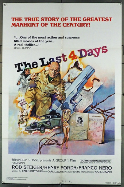 MUSSOLINI: ULTIMO ATTO (1974) 11559  THE LAST FOUR DAYS Original U.S. One-Sheet Poster (27x41) Folded  Fine Plus Condition