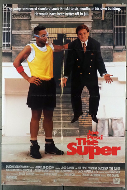 SUPER, THE (1991) 11563 20th Century Fox Original One-Sheet Poster (27x41) folded  Fair to Good Condition