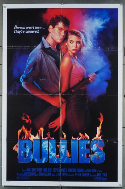 BULLIES (1986) 11562 Universal PIctures Original One-Sheet Poster (27x41) Folded  Average Used Condition