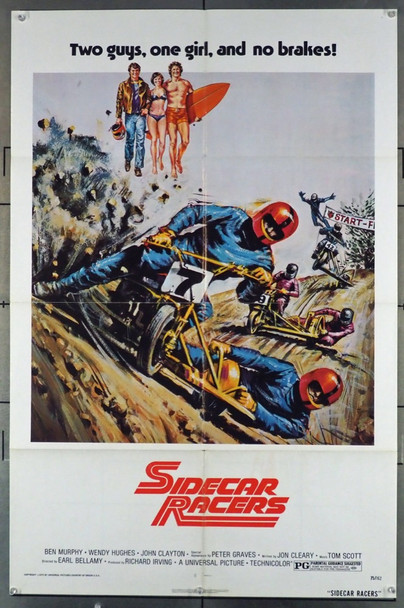 SIDECAR RACERS (1975) 11567 Universal PIctures Original U.S. One-Sheet Poster (27x41) Folded  Fine Plus Condition