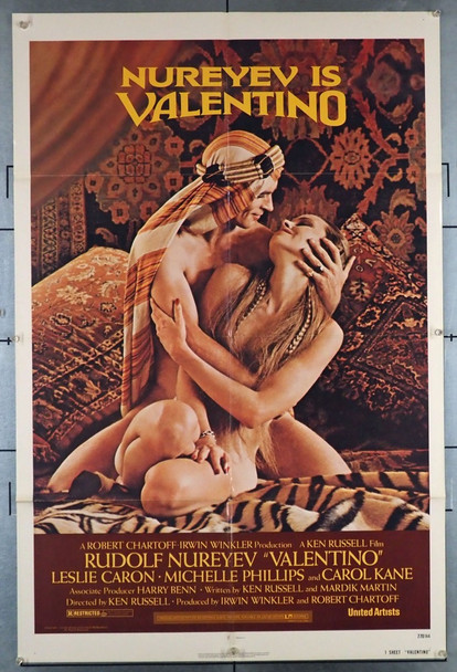 VALENTINO (1977) 2709 United Artists Original U.S. One-Sheet Poster (27x41) Folded  Very Fine