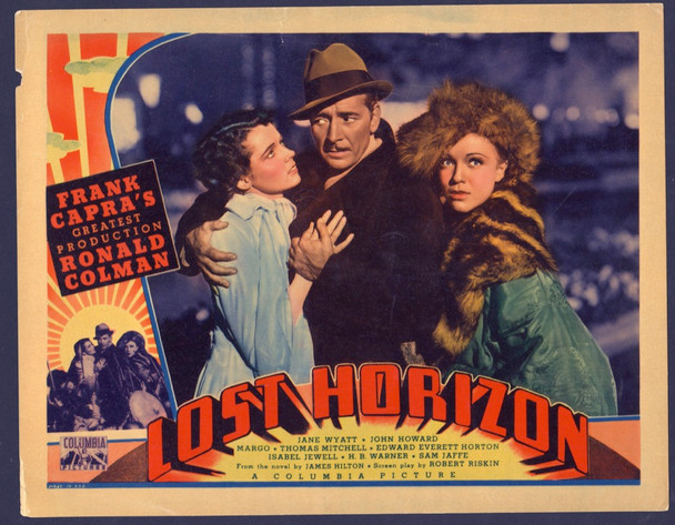 LOST HORIZON (1937) 19666 Columbia Pictures Original U.S. Lobby Card (11x14)  Very Good Plus Condition
