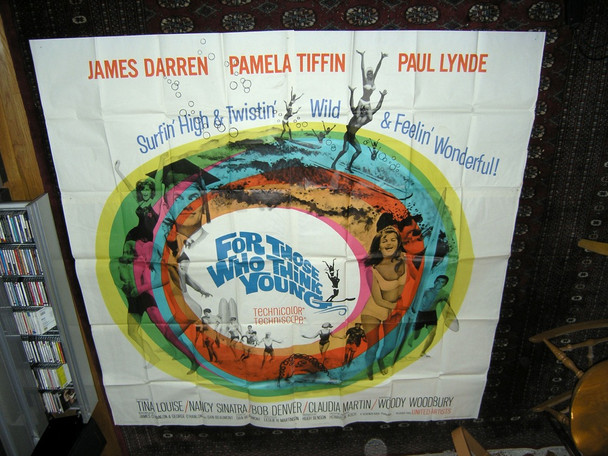 FOR THOSE WHO THINK YOUNG (1964) 16094 United Artists Original U.S. Six Sheet Poster (81x81)  Folded  Very Fine Condition
