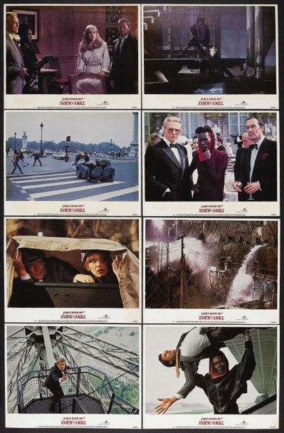 VIEW TO A KILL, A (1985) 4447 MGM/UA Original U.S. Lobby Card Set   Eight 11x14 Cards  Very Fine Plus Condition