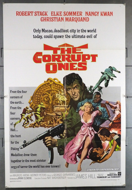The Corrupt Ones (1967) 28187 Warner Brothers Original U.S. One-Sheet Poster (27x41) Folded  Very Fine  Art by Frank McCarthy