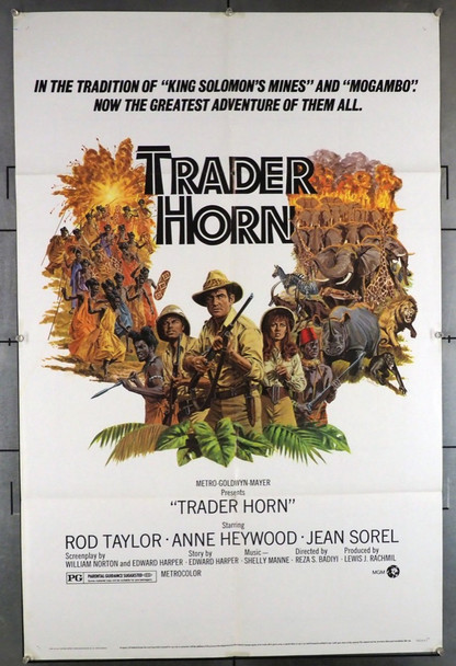TRADER HORN (1973) 15292 MGM Original U.S. One-Sheet Poster (27x41) Folded Very Fine Condition  Art by Larry Salk