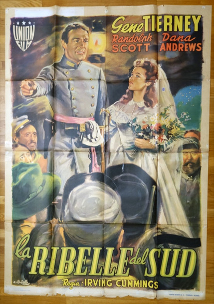 BELLE STARR (1941) 27687 20th Century Fox Original Italian 79x55 Poster   Folded  Theater-Used  Fair Condition