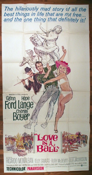 LOVE IS A BALL (1963) 17517 United Artists Original U.S. Three Sheet Poster (41x81  Folded  Very Good Condition