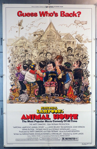 ANIMAL HOUSE (1979) 28196 Universal PIctures Original U.S. One-Sheet Poster (27x41) Folded  Very Fine Condition
